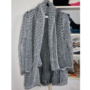 Black and white cardigan from Francesca's